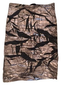 Nicole Miller Skirt Black, Silver, Metallic