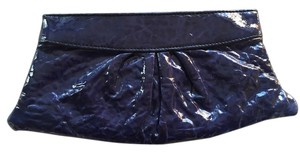 Lauren Merkin Patent Leather Blue Clutch