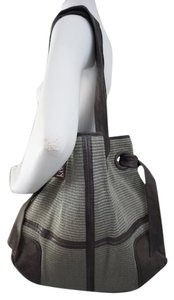 Kooba Leather Gray Leather Tote in Silver