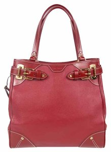 Louis Vuitton Leather Majestueux Suhali Tote in Red