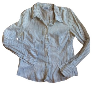 Abercrombie & Fitch Striped Top Blue & White Stripped
