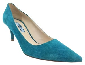 Prada Stiletto Leather Suede Pumps
