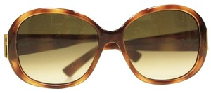 Fendi Fendi Tortoise Shell Brown Oval Designer Gradient Sunglasses with Case