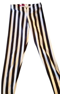 Black Milk Clothing Beetlejuice White Stripes Black, White Leggings