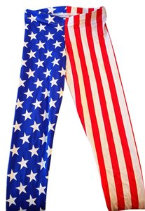 Black Milk Clothing Red, White, Blue Leggings