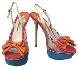 Sophia Webster Multicolored Blue pink orange mint Platforms