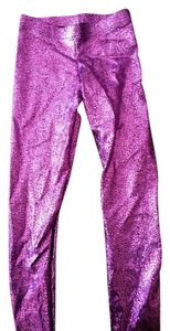 Black Milk Clothing Shattered Glass Shiny Purple Leggings