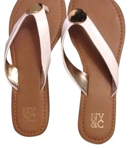 NY Collection White Sandals