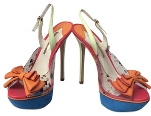 Sophia Webster Multicolor Mint blue orange pink Platforms