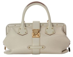 Louis Vuitton White Suhali L'ingenieux Leather Lv.h1030.08 Satchel