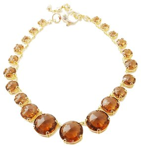 Henri Bendel NEW Henri Bendel Hand Me Down Statement Necklace 18k Amber Crystals