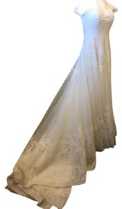 Mori Lee Ivory Delicate Detailed Lacing From Top To Bottom 2674 Vintage Wedding Dress Size 4 (S)