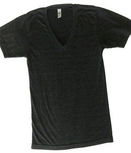 American Apparel Gray T Shirt Charcoal