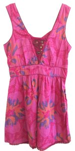 Free People short dress Maroon pink floral on Tradesy