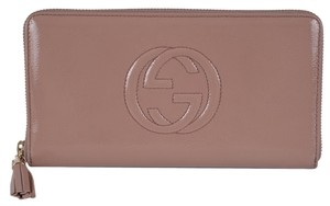 Gucci New Gucci 291102 Soho Vernice Patent LARGE Zip Around Clutch Travel Wallet