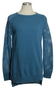 Theory 100% Wool Raglan Sleeve Mesh Sweater