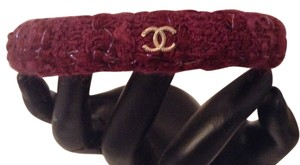 Chanel NEW CHANEL PARIS EDINBURGH 13A TWEED CC BANGLE BRACELET