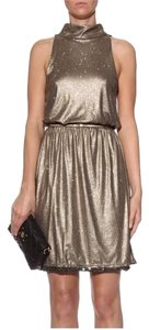 Alice + Olivia Sequin Shift Shimmer Dress