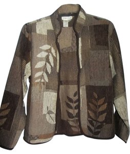 Coldwater Creek brown multi print Jacket