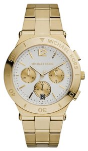 Michael Kors BRAND NEW WOMENS MICHAEL KORS (MK5933) WYATT CHRONOGRAPH GOLD TONE WATCH