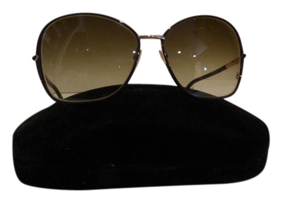 241e31617a1 Tom Ford Rose Gold Solange Tf319 28f Brown Light Women s Soft Square  Sunglasses