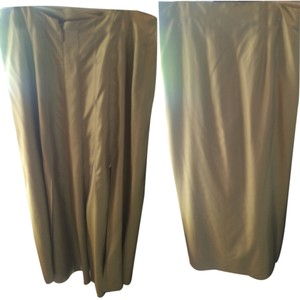 Chanel Vintage Maxi Skirt Light Olive