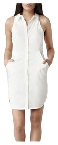 AllSaints short dress White (Chalk) on Tradesy