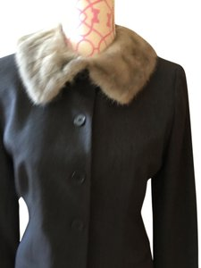 Ralph Lauren Gray with light gray mink collar Blazer