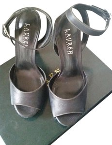 Ralph Lauren Leather Black Sandals