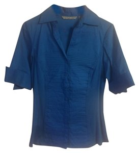 Signature by Larry Levine Button Down Shirt Blue