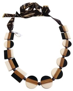 Tory Burch TORY BURCH NWT COLORBLOCK RIBBON NECKLACE