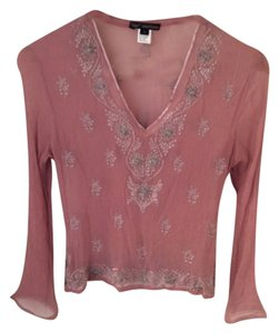 Gold Hawk Top Pink