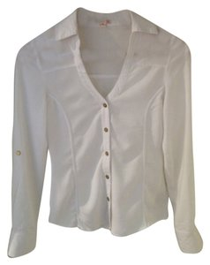 Guess Button Down Shirt White