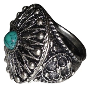 Other Circular Silver Turquoise Ring
