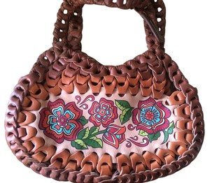Isabella Fiore Satchel Leather Hobo Bag