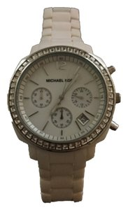 Michael Kors Michael Kors MK5079 White Runway Chronograph Mother-of-Pearl Dial Women's Watch