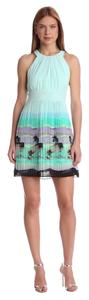 Max and Cleo short dress Blue Mint Wedding Easter Brunch Pleated Halter on Tradesy