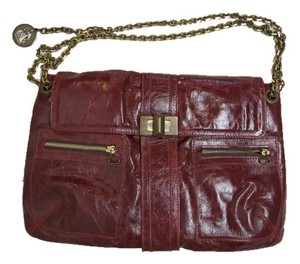 Lanvin Burgundy Leather Purse Shoulder Bag