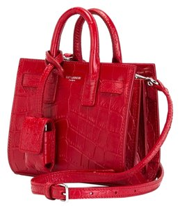 Saint Laurent Lauret Nano Sac Tote in Red