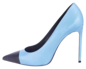 Saint Laurent Light Blue/ Black Pumps