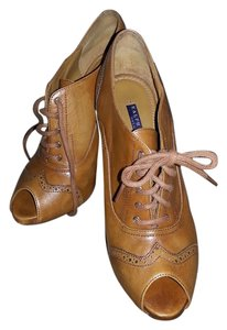 Ralph Lauren Collection Classic Oxford Italian Made Cognac Boots
