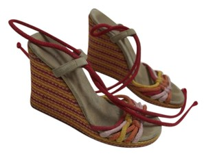 Marc by Marc Jacobs Wedge Espadrilles Red, Yellow, Pink, Orange Wedges