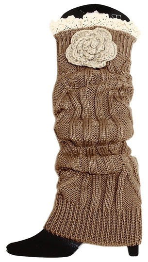 Preload https://img-static.tradesy.com/item/6353758/brown-and-beige-knitted-lace-top-flower-accent-leg-warmer-boot-topper-socks-0-0-540-540.jpg