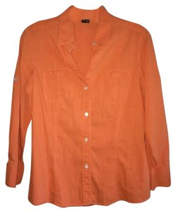 Theory Button Down Shirt Orange