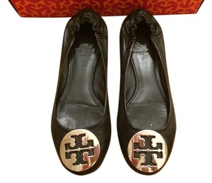Tory Burch Leather Ballet Black/Silver Flats