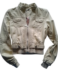 JouJou tan Leather Jacket