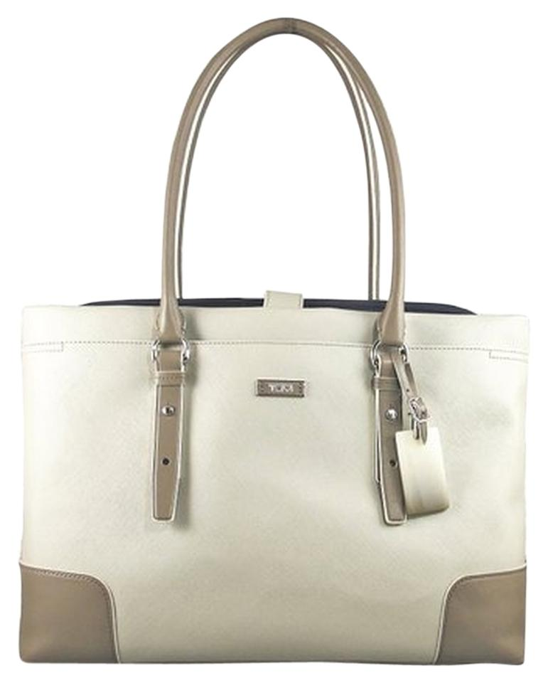 Tumi Messenger Palermo Tote Women S Computer Bag Briefcase Grey Black Textured Coated Canvas Laptop 54 Off Retail