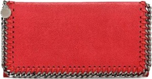 Stella McCartney Stella McCartney Pink Fluo Falabella Shaggy Deer Flap Wallet New
