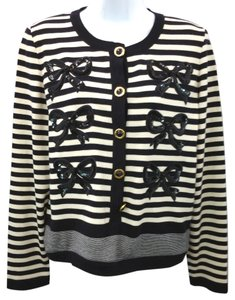Escada Knit Beige Black Cardigan