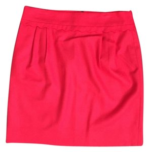 J.Crew Wool Work Wear Mini Skirt Red